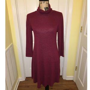 Cupio Red Turtleneck Sweater Dress